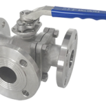 3 way ball valve ANSI flanged type