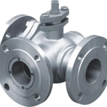3 Way Ball Valve JIS Flanged Type