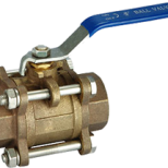 3PC bronze ball valve