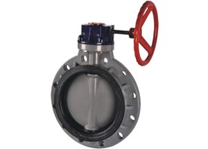 CPVC plastic wafer butterfly valve