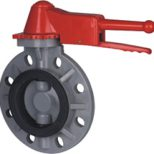 CPVC Plastic Wafer Type Butterfly Valve