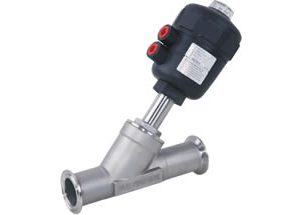 Pneumatic Angle Seat Valve Clamp Ends