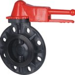 FRPP Plastic Wafer Type Butterfly Valve