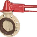 PPH Plastic Wafer Type Butterfly Valve