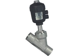 Pneumatic Angle Seat Valve Welded Ends