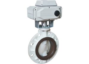 Electric plastic wafer butterfly valve