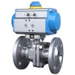 Flanged Ball Valve Pneumatic Actuator Image