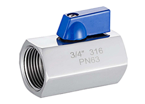 1pc mini ball valve threaded ends